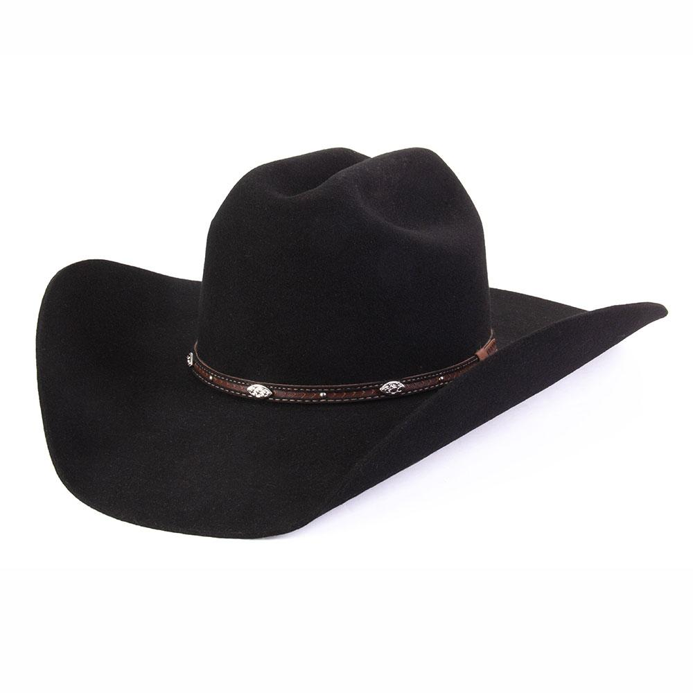 a7d067350 Rodeo King Black 3x Low Rodeo Felt Hat