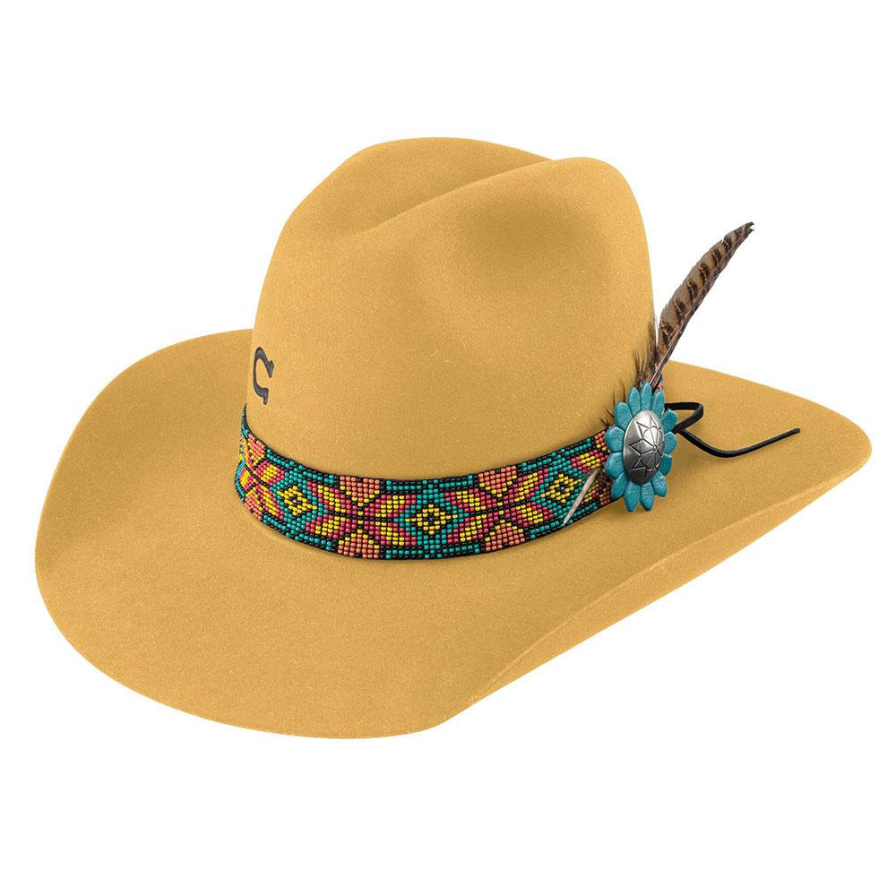 Charlie 1 Horse Women s Yellow Gold Digger Felt Hat Item   CWGDGR-2134YL 6a29e757868