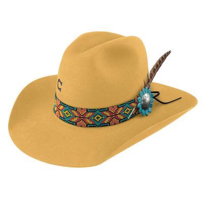 Charlie 1 Horse Women's Yellow Gold Digger Felt Hat
