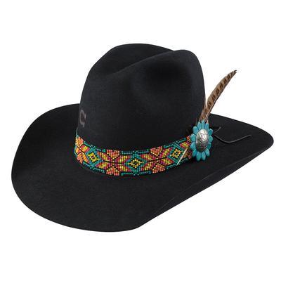 Charlie 1 Horse Women's Black Gold Digger Felt Hat