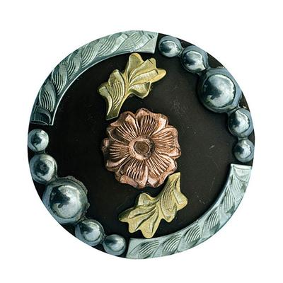 Partrade Antiqued Copper & Brass Floral Concho