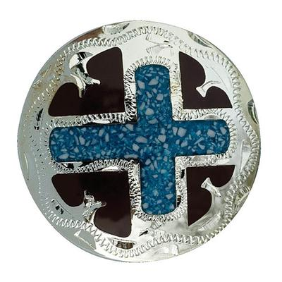 Partrade Turquoise Spirit Cross Concho
