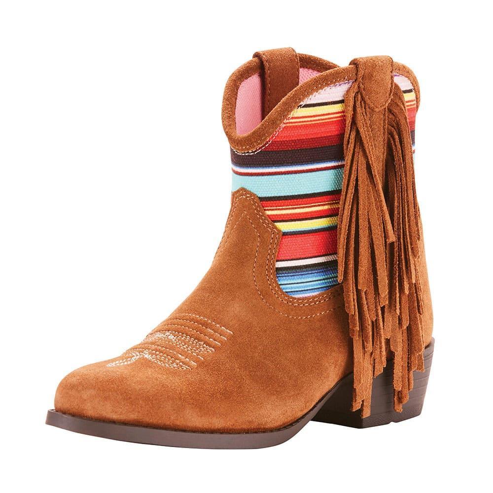 girls short fringe boots