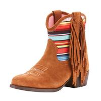 Ariat Girl's Duchess Serape Fringe Short Boot