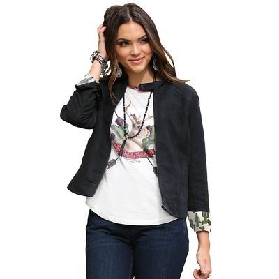 Cruel Girl Women's Faux Suede Moto Jacket