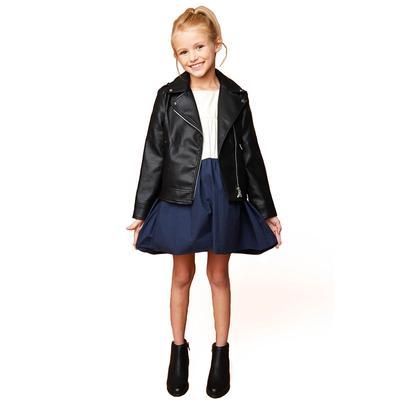 Hayden Girl's Black Leather Moto Jacket