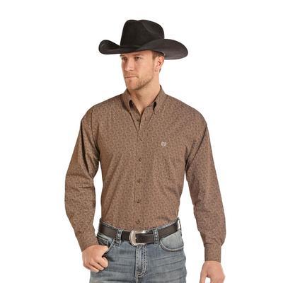 Panhandle Slim Men's Brown Print Shirt