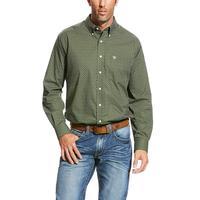 Ariat Men's Duffel Green Wrinkle Free Urwin Shirt