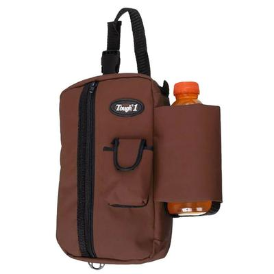 Tough- 1 ® Zipper Pouch/Water Bottle Holder Combo, Brown