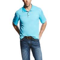 Ariat Men's Waterfall Blue Links II Polo Shirt