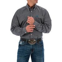 Cinch Men's Teal and Gray Medallion Print Shirt