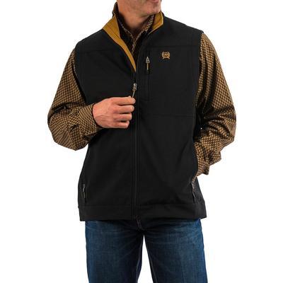 Cinch Men's Black And Gold Bonded Vest