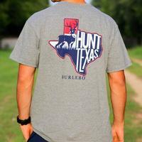 Burlebo Men's Dark Grey Hunt Texas T-Shirt