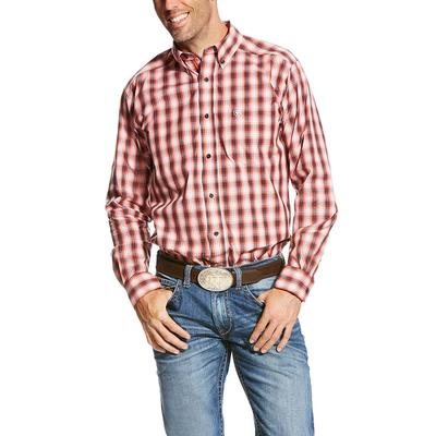 Ariat Men's Pro Series Patrick Calypso Coral Fitted Shirt