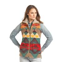 Powder River Outfitters Women's Aztec Jacquard Berber Bonded Vest