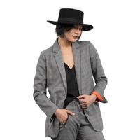 Lola and Sophie Women's Glen Plaid Blazer