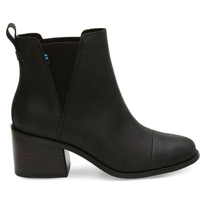 Toms Women's Black Leather Esme Boots