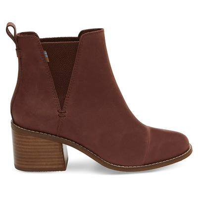 Toms Women's Burnt Henna Leather Esme Boots