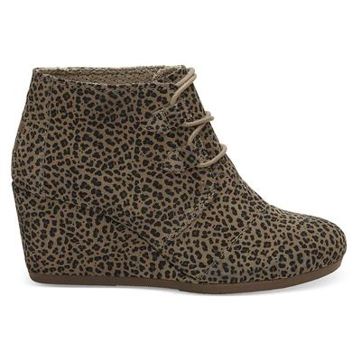 Toms Women's Cheetah Kala Wedge Ankle Boots