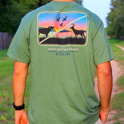 Burlebo Men's Sun Up To Sun Down T- Shirt