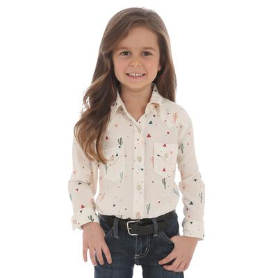 Wrangler Girl's Long Sleeve Snap Shirt