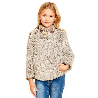 Hayden Girl's Fleece Pullover Sweater OLIVE