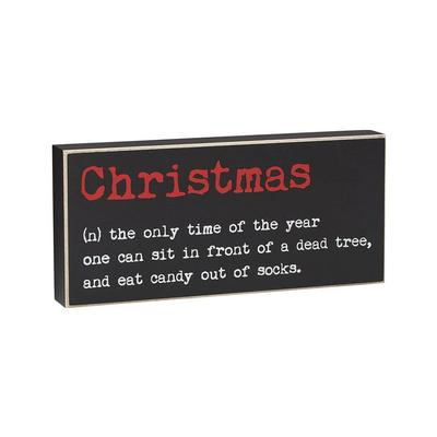 Christmas Definition Box Sign