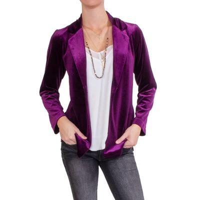 Jade Women's Mulberry Velvet Blazer