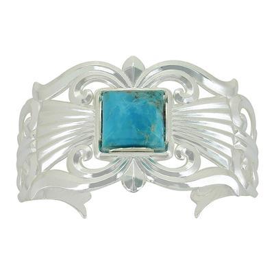 Montana Silversmith's Gates Of The Mountains Turquoise Cuff Bracelet