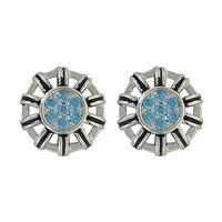 Montana Silversmith's Buck Stitch Flower Button Post Earrings