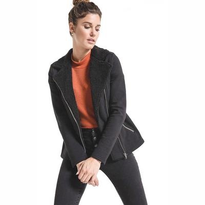Z Supply Women's Sherpa Moto Jacket BLACK