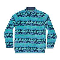 Southern Marsh Men's Fairbanks Navy and Mint Pullover