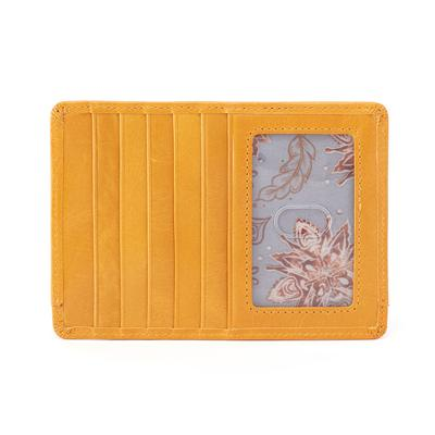 Hobo Euro Slide Vintage Slim Wallet - Amber