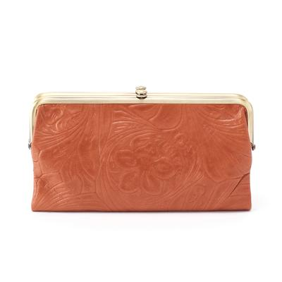 Hobo Lauren Embossed Clutch Wallet - Clay