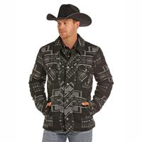 Powder River Outfitters Men's Full Aztec Jacquard Wool Jacket