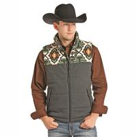 Powder River Outfitters Men's Aztec Yoke Vest