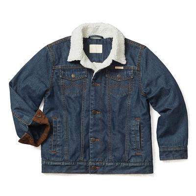 Wrangler Boy's Western Sherpa Denim Jacket