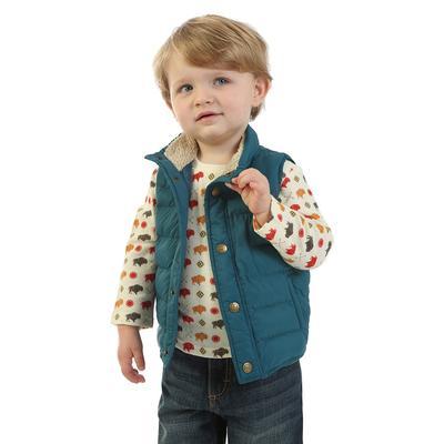 Wrangler Toddler's Sherpa Lined Puffer Vest
