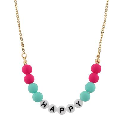 Jane Marie Kid's All About Me Too Necklace HAPPY