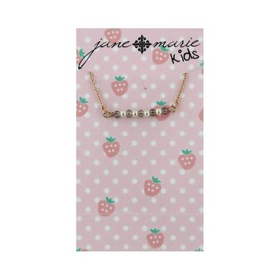 Jane Marie Kid's Sweet Kisses Necklace GREY