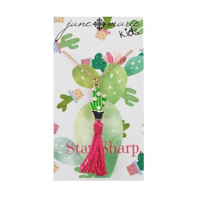 Jane Marie Kid's Fun Fetti Charm Necklace CACTUS