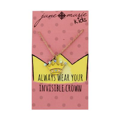 Jane Marie Kid's Fun Fetti Charm Necklace CROWN