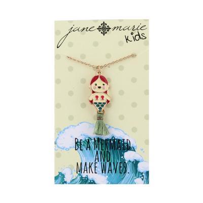 Jane Marie Kid's Fun Fetti Charm Necklace MERMAID