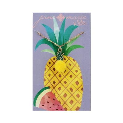 Jane Marie Kid's Fun Fetti Charm Necklace PINEAPPLE