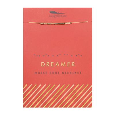 Lucky Feather's Dreamer Morse Code Necklace