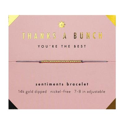 Lucky Feather's Thanks A Bunch Sentiments Bracelet