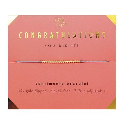 Lucky Feather's Congratulations Sentiments Bracelet