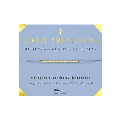 Lucky Feather's Lively Twenty-Five Birthday Milestone Bracelet