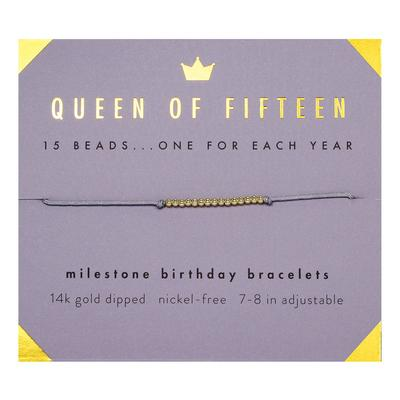 Lucky Feather's Queen Of Fifteen Birthday Milestone Bracelet