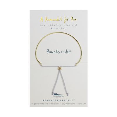 Lucky Feather's Star Reminder Bracelet